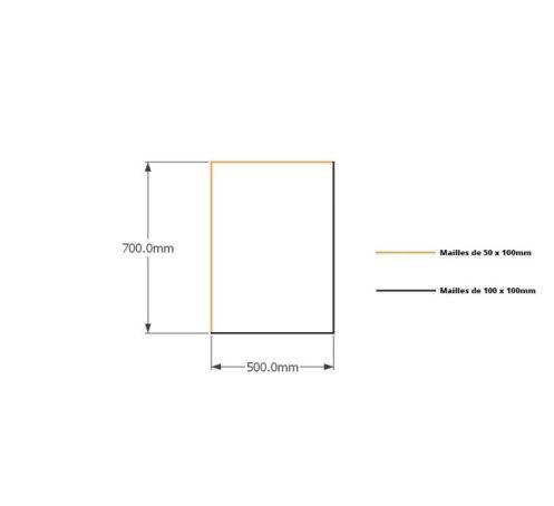 Kit gabions 70cm (H) x 50cm (L), pour soutènement