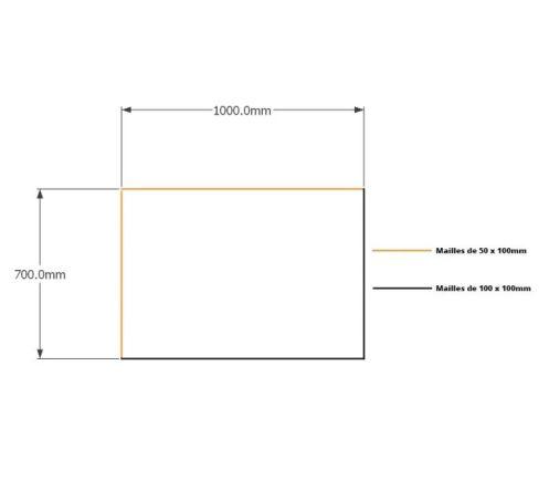 Kit gabions 70cm (H) x  100cm (L), pour soutènement
