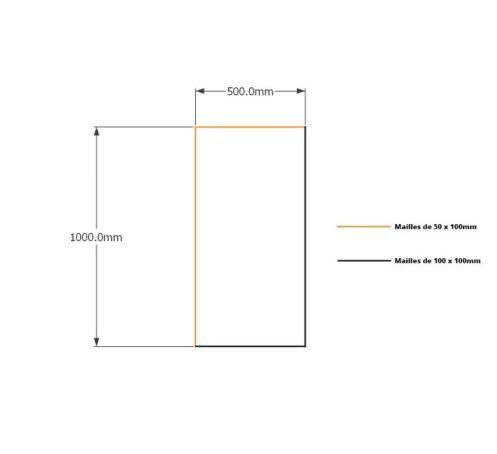 Kit gabions 100cm (H) x 50cm (L), pour soutènement