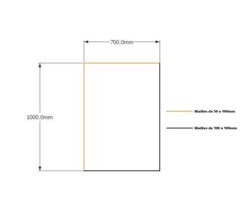 Kit gabions 100cm (H) x 70cm (L), pour soutènement