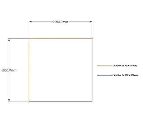 Kit gabions 100cm (H) x 100cm (L), pour soutènement