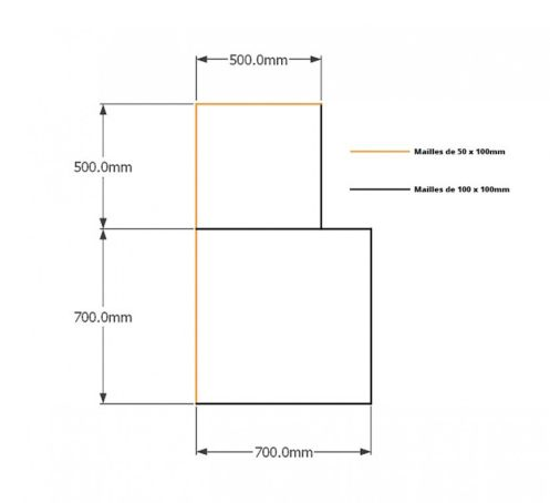 Kit gabions , 120cm (H) x 70cm + 50cm, pour soutènement