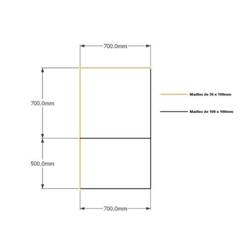 Kit gabions , 120cm (H) x 70cm + 70cm, pour soutènement