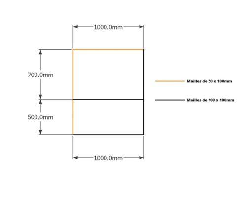 Kit gabions , 120cm (H) x 100cm + 100cm, pour soutènement