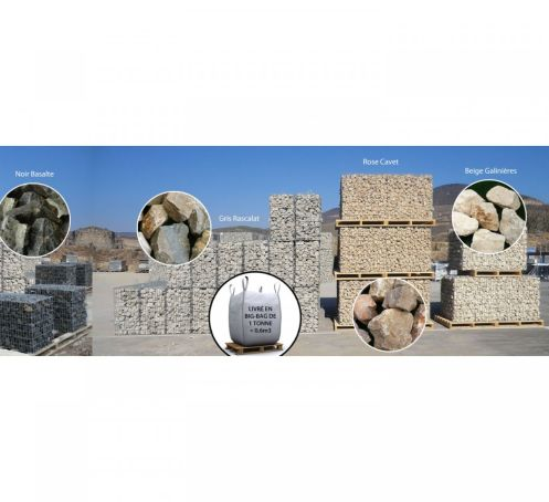 Pierres pour gabions en big-bag de 1 tonne