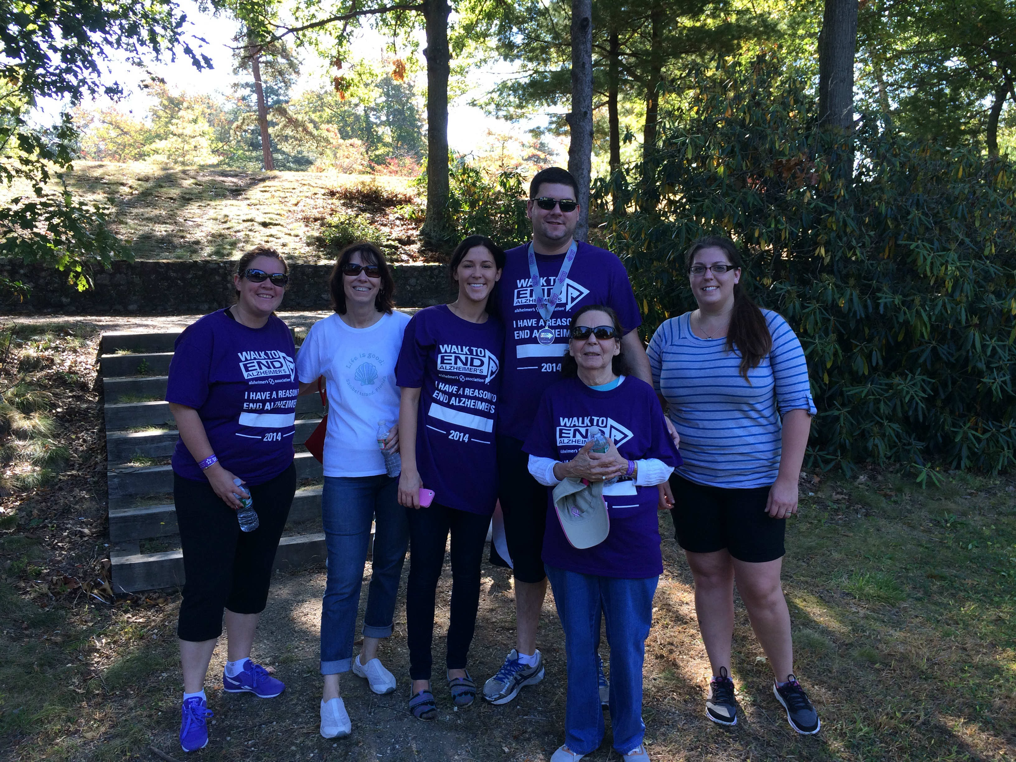 The RI Comfort Keepers team at the Walk To End Alzheimer's