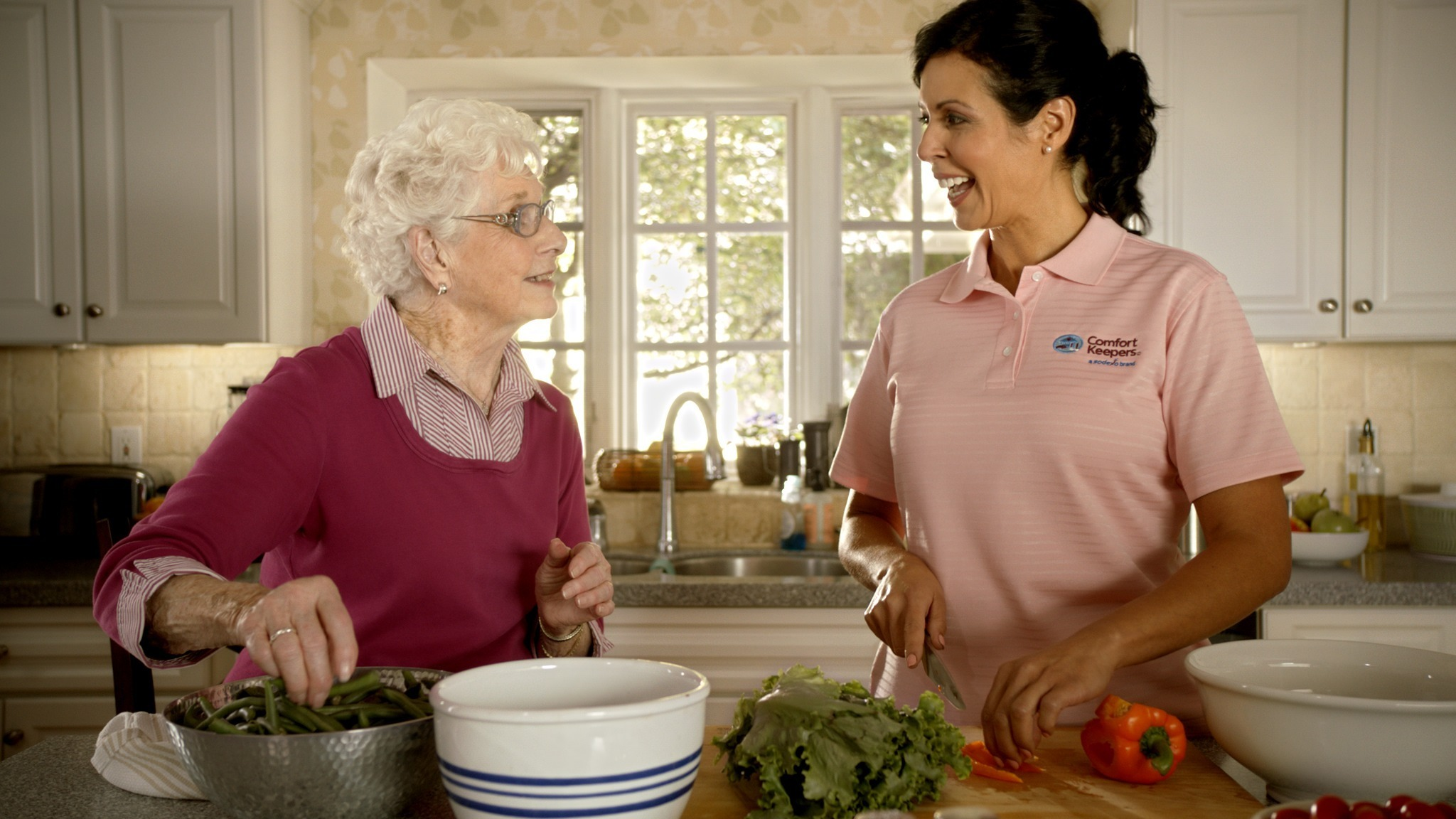 Preparing a meal with an in home care provider in Auburn, KS