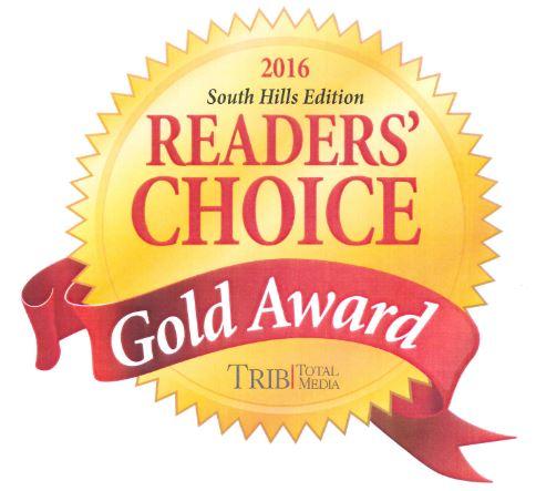 South Hills Trib Readers Choice Gold Award