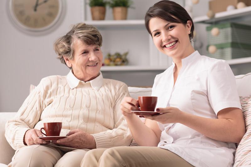 Home caregivers in Warriors Mark provide companionship for seniors