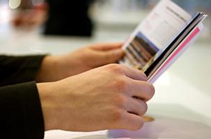 reading brochures