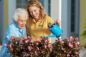 A Caregiver Providing Personal Care