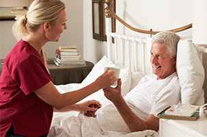 Caregiver Providing 24 Hour Care