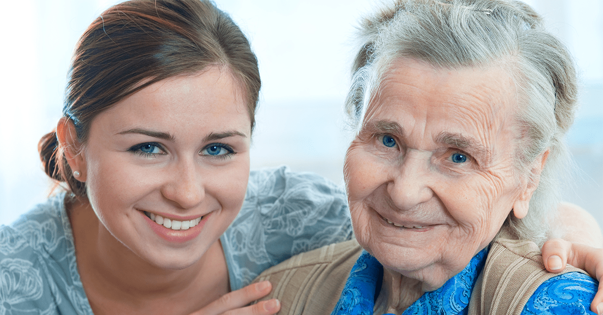 Senior care provider and older woman