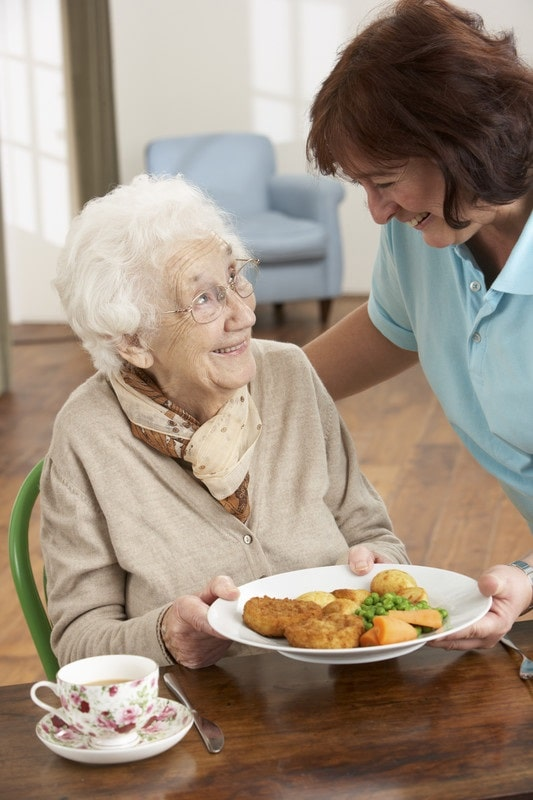In home care for seniors that helps seniors keep to a healthy diet