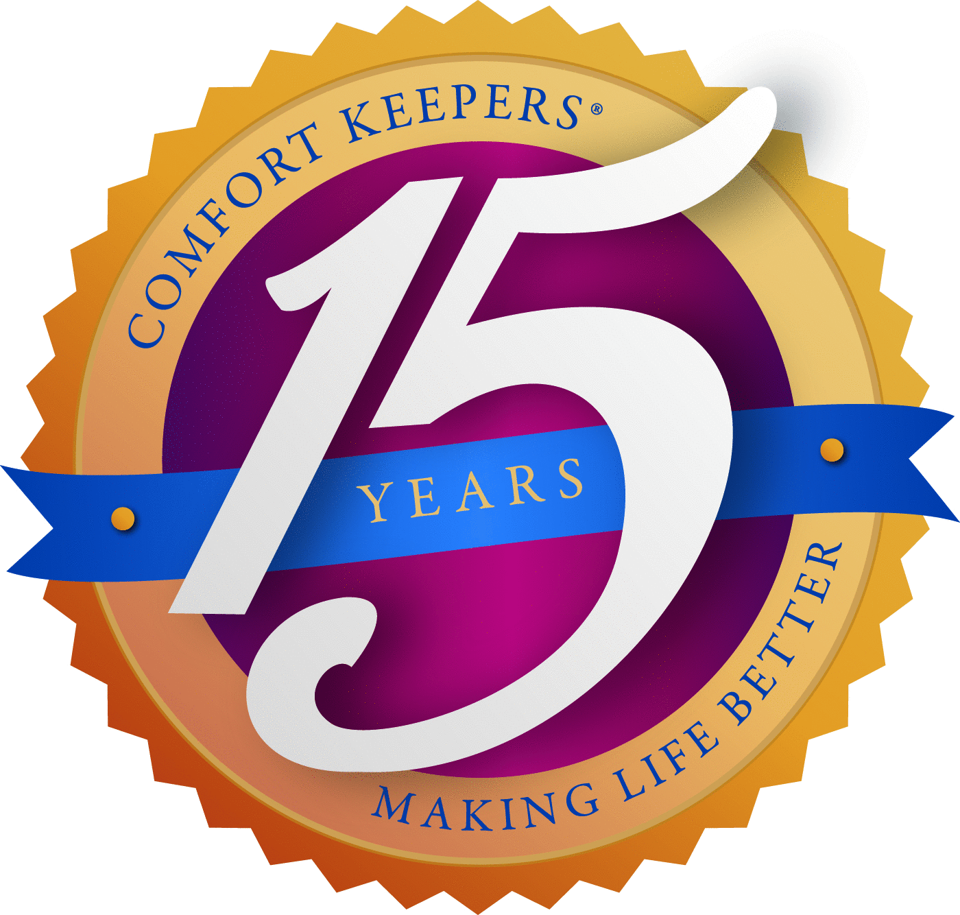 Comfort Keepers 15-Year Award
