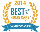 Best of Home Care Provider of Choice Award in 2014