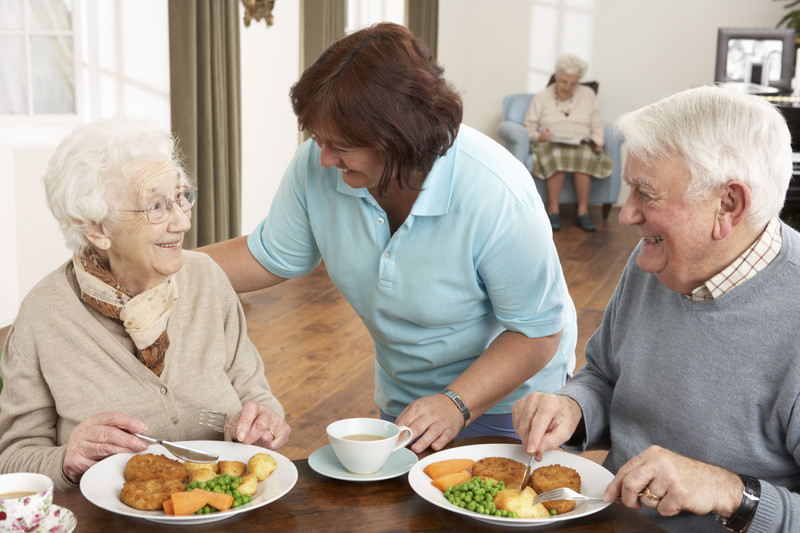 In home care giving and meal assistance