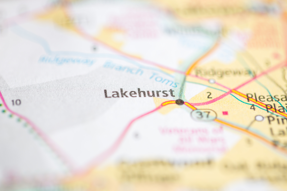 Map of Lakehurst, NJ where Comfort Keepers provides in home care services for seniors