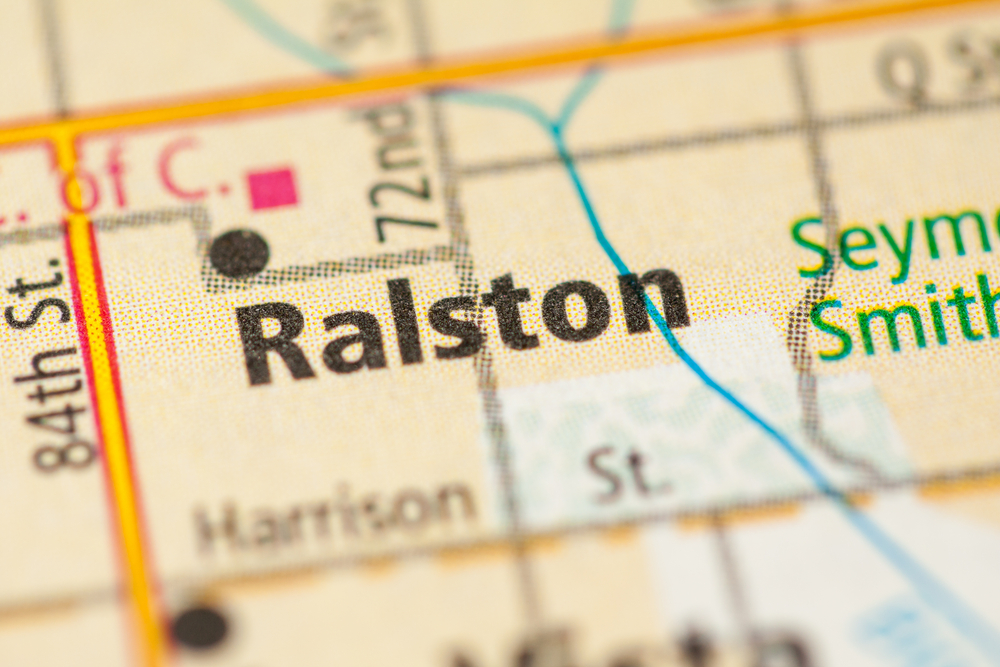 Map of Ralston, NE where Comfort Keepers provides in home senior care services