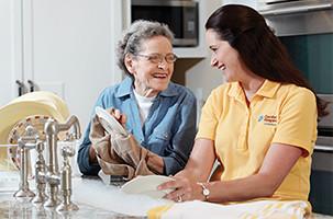 A Caregiver Providing Transitional Home Care
