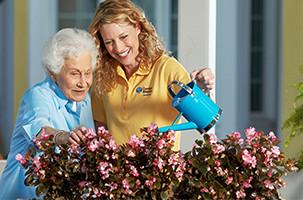A Caregiver Providing Personal Home Care
