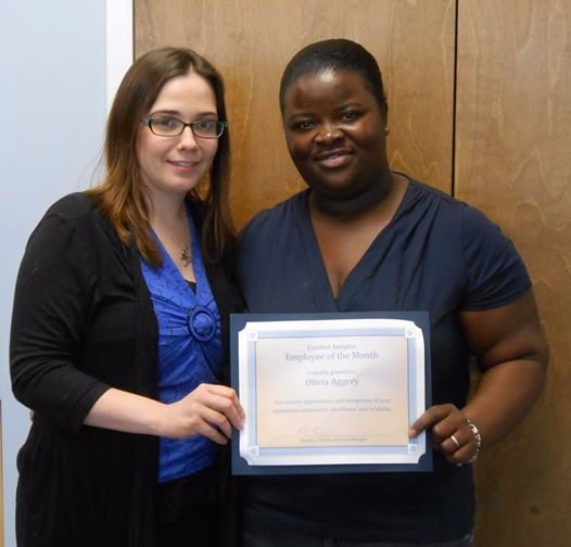 Olivia is our Comfort Keeper of the Month for May 2014 in Flemington, NJ.