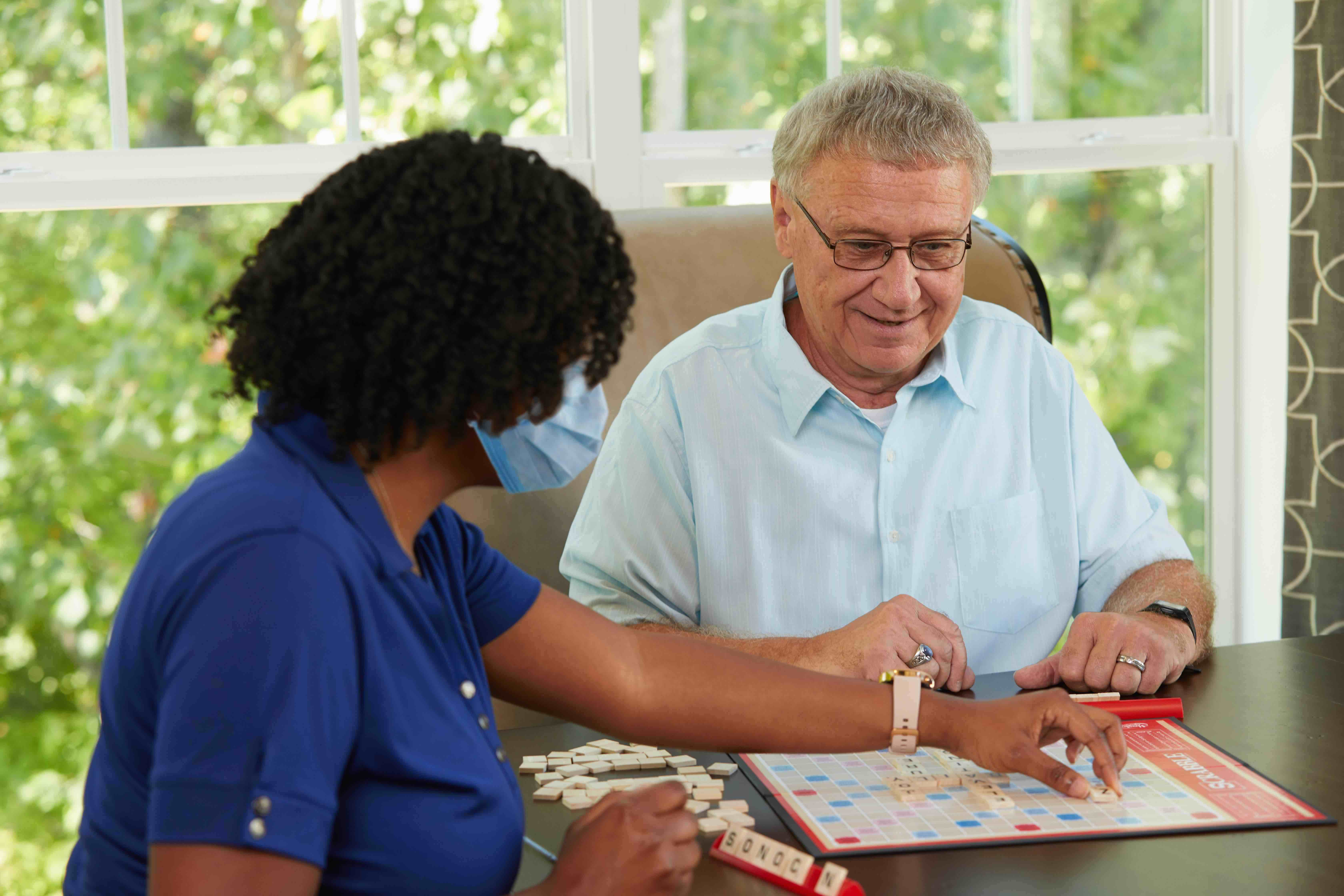 Caregiver Providing Interactive Care to a Senior in Wichita, KS