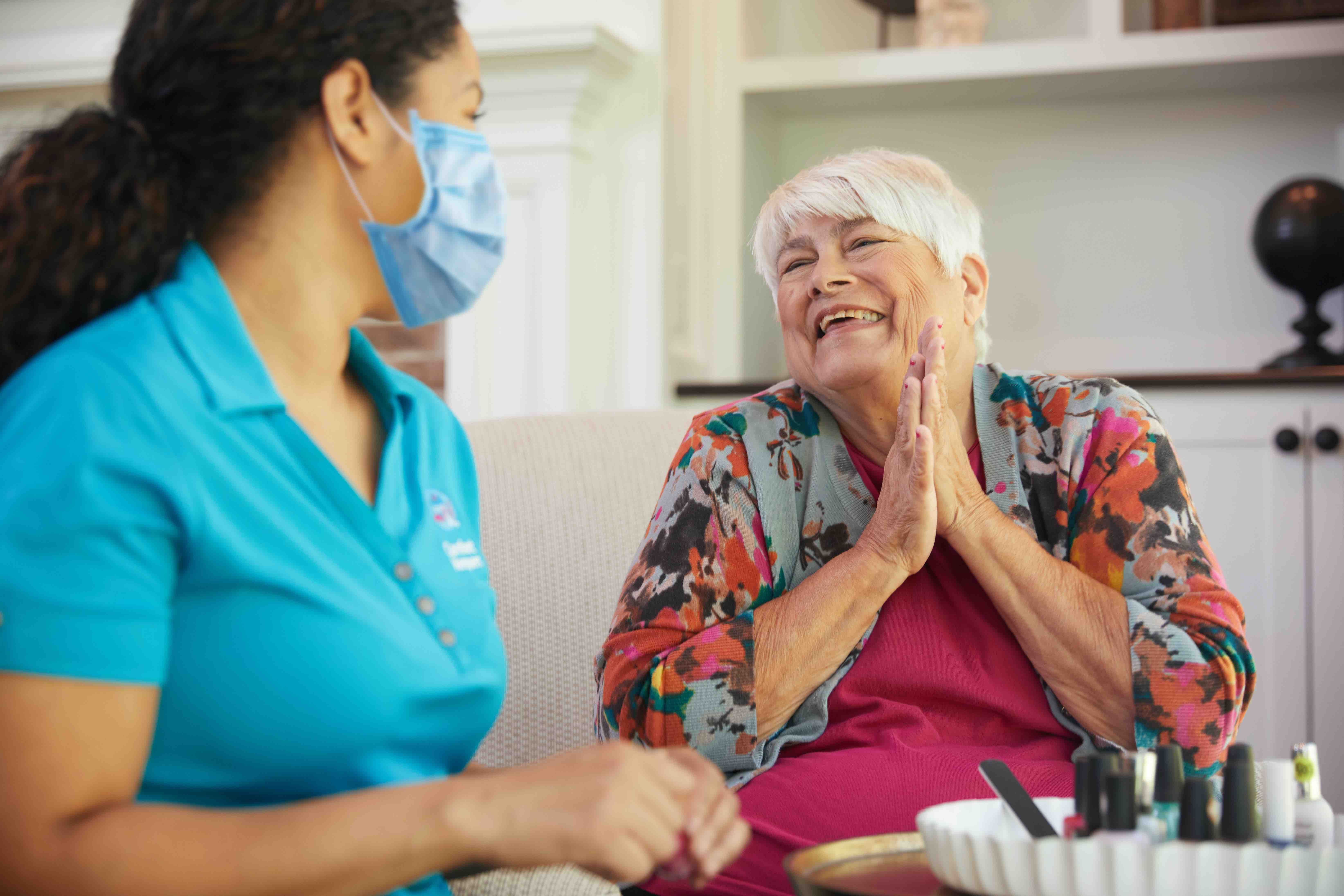 A Caregiver Providing Personal Care in Wichita, KS