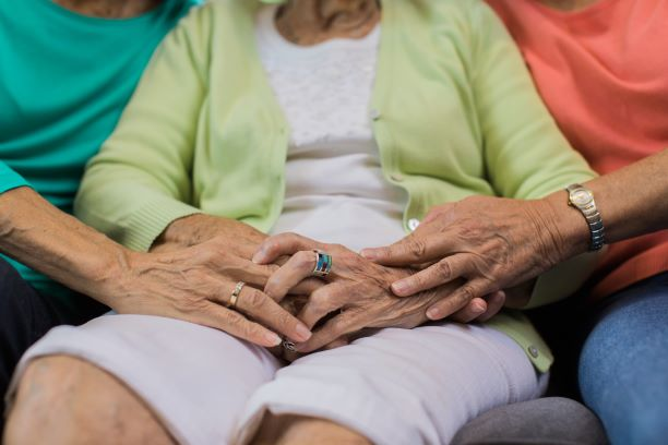 Comforting senior as part of end of life care in Durango, CO