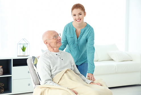 Home health care being provided in Woodbury, MN