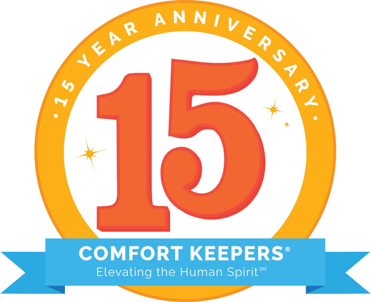 logo depicting 15 years of providing in home care in plymouth and laconia