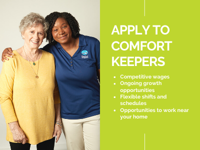Apply to Comfort Keepers Home Care Graphic