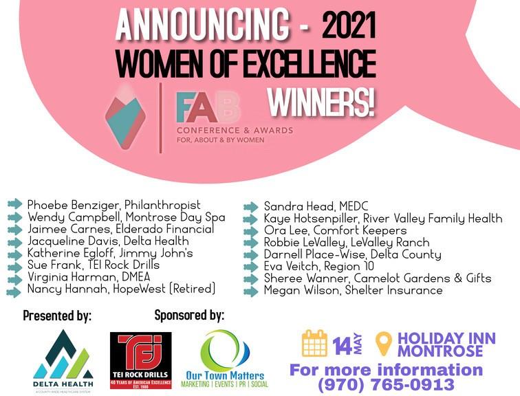 Women of Excellence 2021 Award