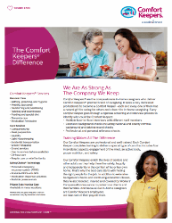 Click here to download our brochure on Comfort Keepers