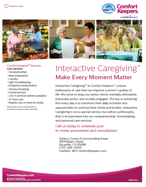 Click here to download our brochure on Interactive Caregiving