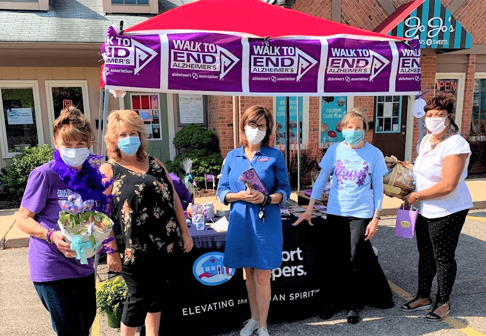 Photo of Comfort Keepers Home Care Team Participating in the Walk to End Alzheimer's Event