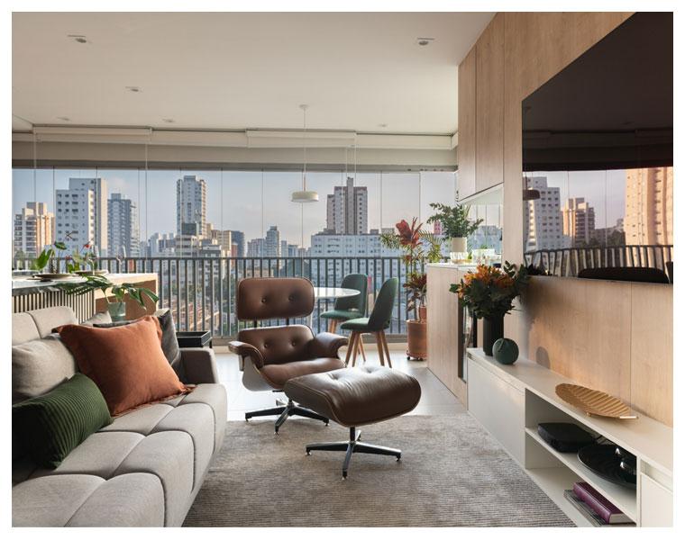 Okupa integra sala, cozinha e varanda