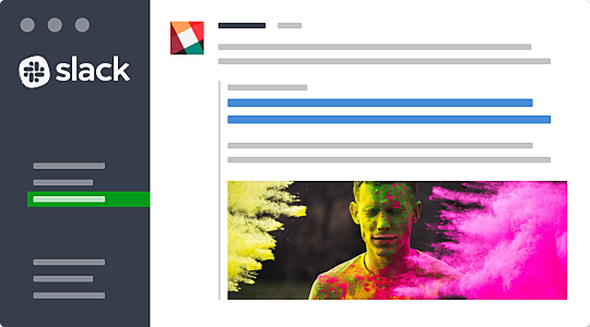 Slack web interface