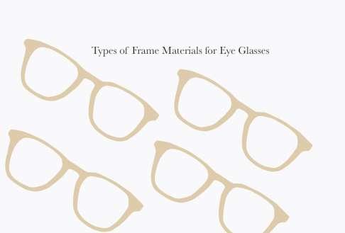 Types of Frame Materials for Eye Glasses