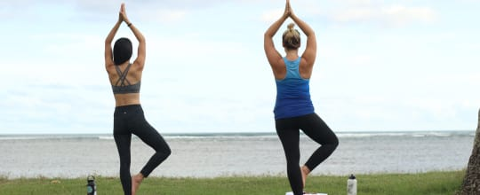 Yoga Under the Palms