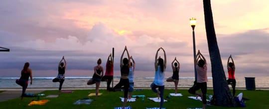 Beach Sunset Yoga Hawaii