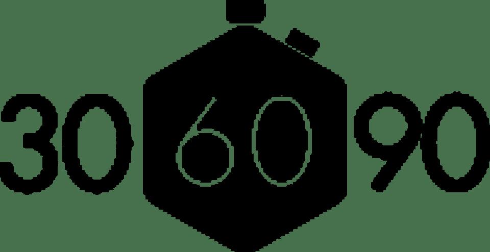 30/60/90 logo