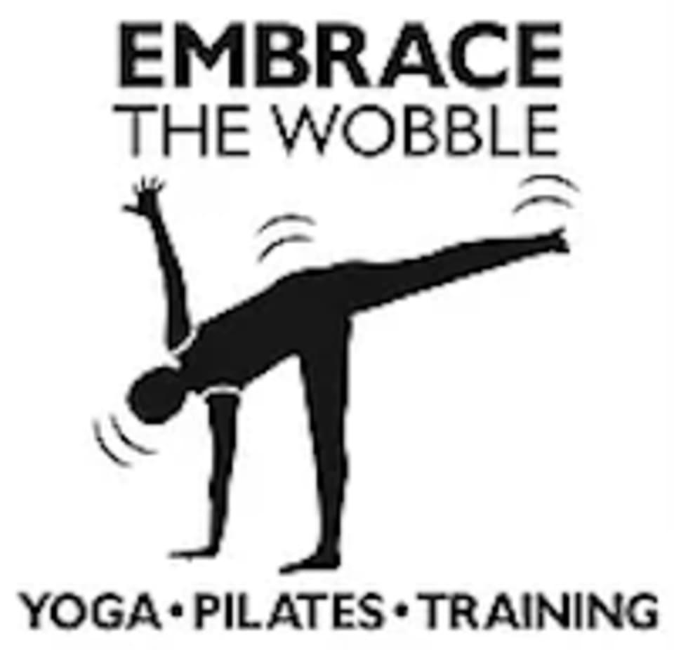 Embrace The Wobble Yoga logo