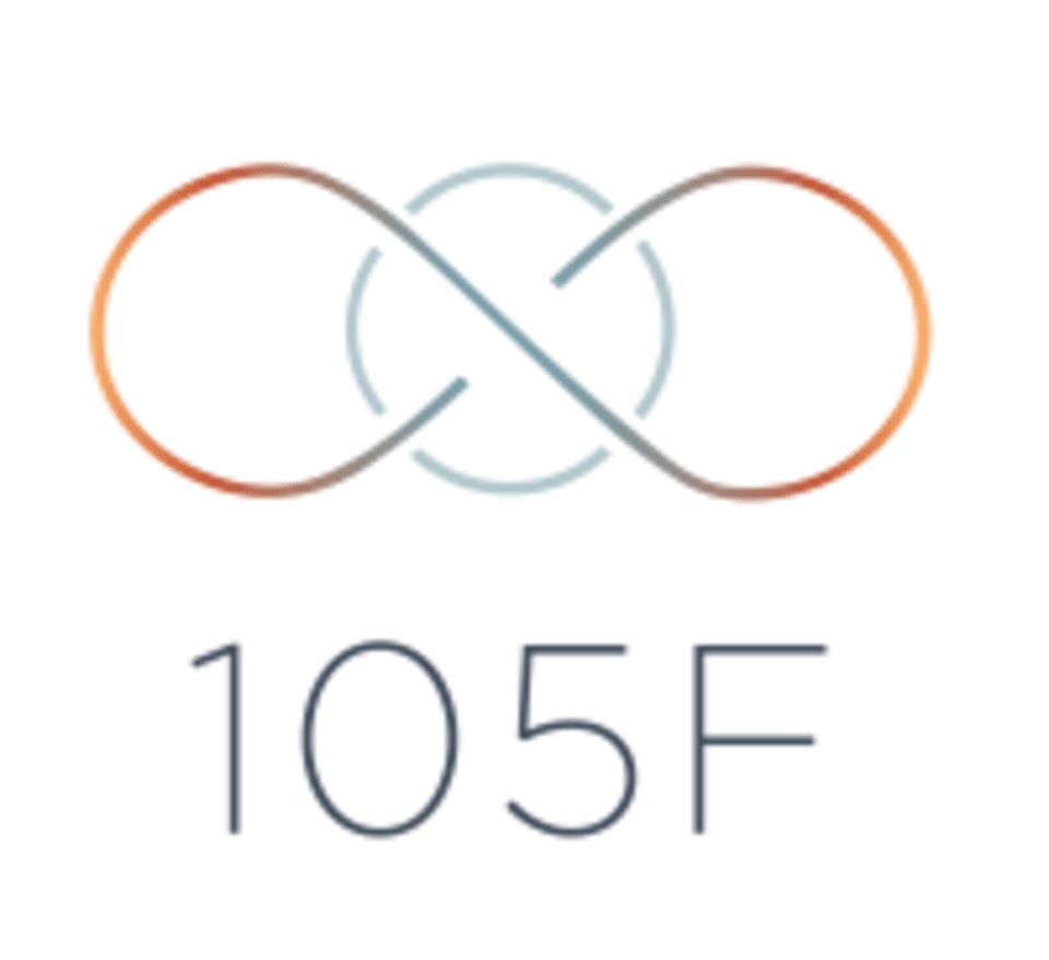 105F Chicago's Original Hot Yoga logo