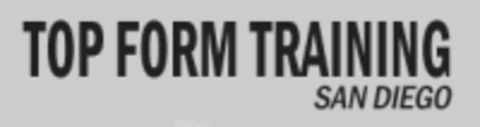 Top Form Training San Diego logo