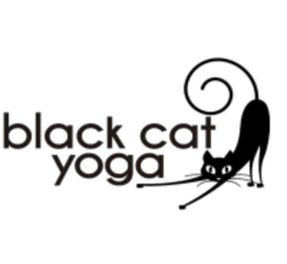 Black Cat Yoga  logo