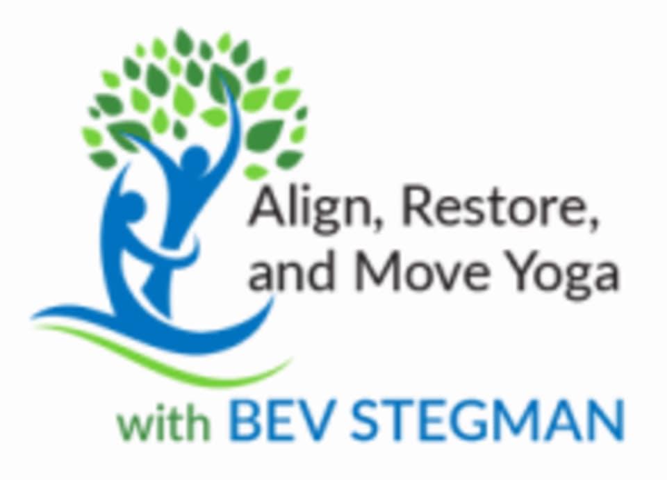Align, Restore, and Move Yoga logo