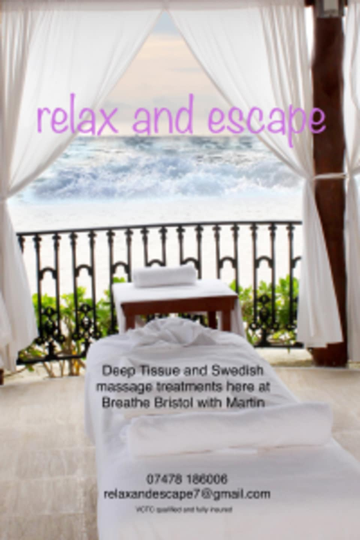 Martin Cook at Breathe Bristol Massage logo