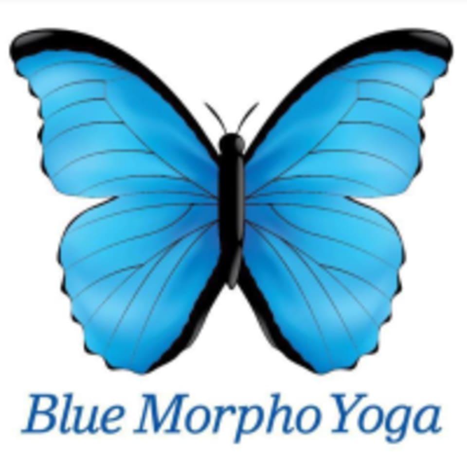 Blue Morpho Yoga logo