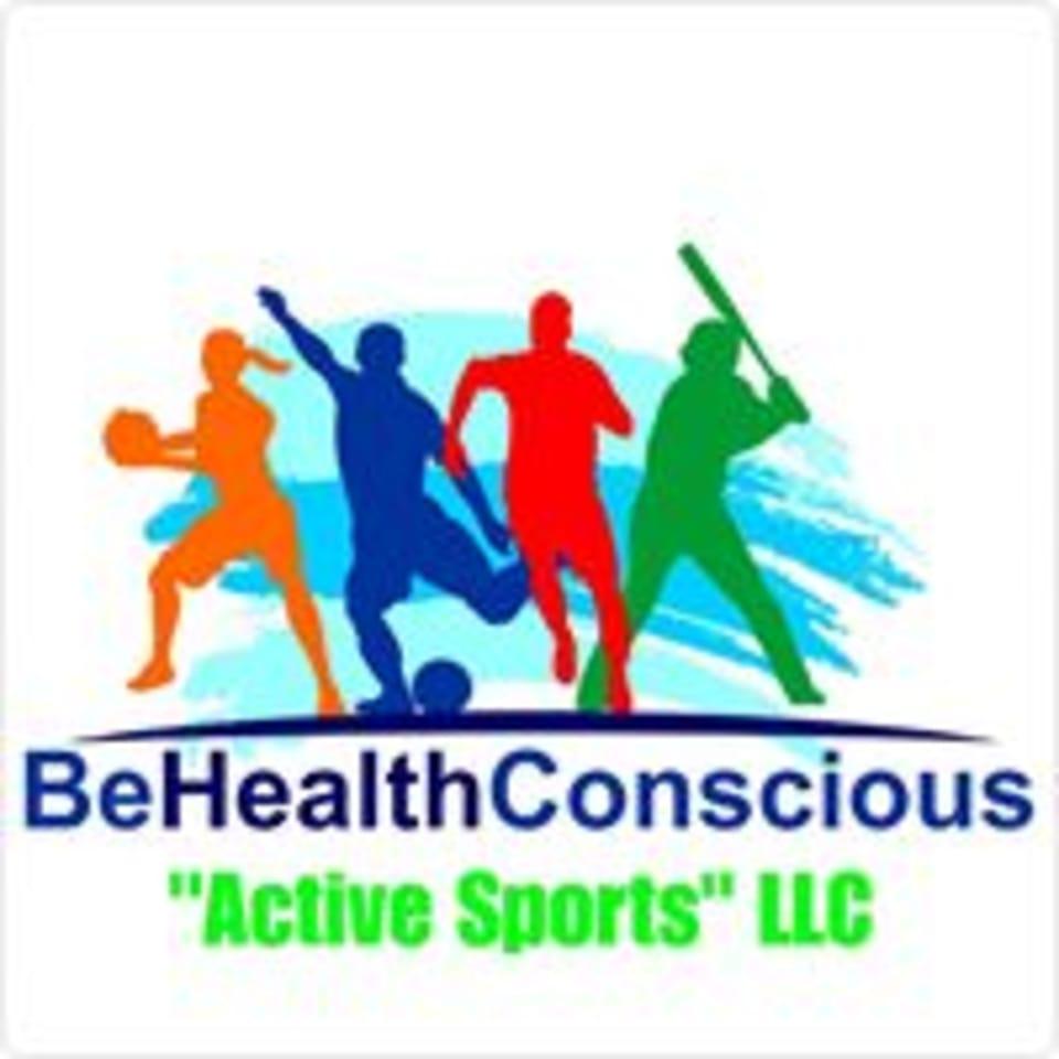 """BeHealthConscious """"Active Sports"""" logo"""